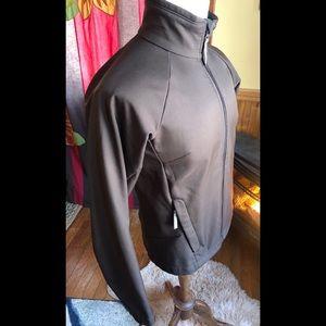 Columbia Jacket Full Zip Fleece Lined Brown Medium